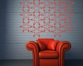 Wall Decal Geometric Stars Mural Oversized Shape Pattern Dorm Decor