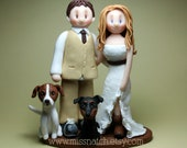 DEPOSIT - Country Barn Outdoor Rustic Wedding Cake Topper