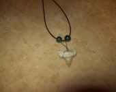Shark tooth necklace your choice of beads