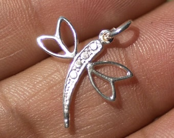 Casting Sterling Silver Blank Dragonfly Dangle Pair - Possible Earring Pieces Fine Work Blanks