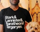 Stark...  GoT Ampersand shirt.  Unisex/Men American Apparel sizes small, medium, large, XL and 2XL.