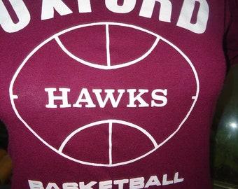 vintage tshirt 2 shirts OXFORD HAWKS BasKeTBaLL Recreation T CT Pair