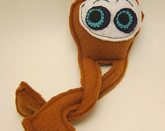 Stuffed monster toy sewn long legs plush toy