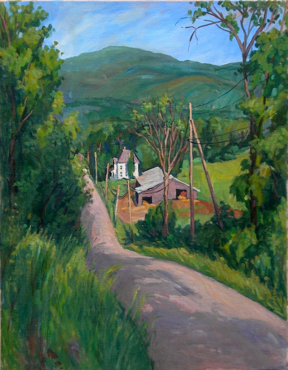 Oil Painting Landscape, Towards Greylock, Berkshires. Large Oil on Canvas, American Realist Landscape Painting