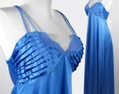 Remarkable Royal Blue Nightgown by Lily of France, Medium