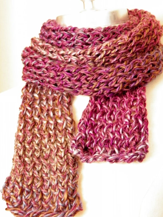 ON SALE Extra Long Scarf, Purple, Indigo, Knitwear, Alpaca Blend, Knit Scarf, Orchid, Violet, Plum, and Lavender.