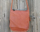 Messenger bag , Crossbody handbag , Buckskin possibles bag , Elkskin leather carry all