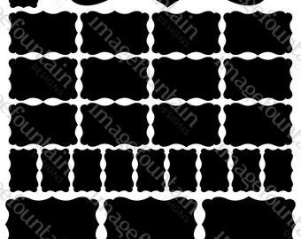 Decorative Chalkboard Vinyl Labels - Multi-pack collection - 34 Decals - Organization, weddings, storage