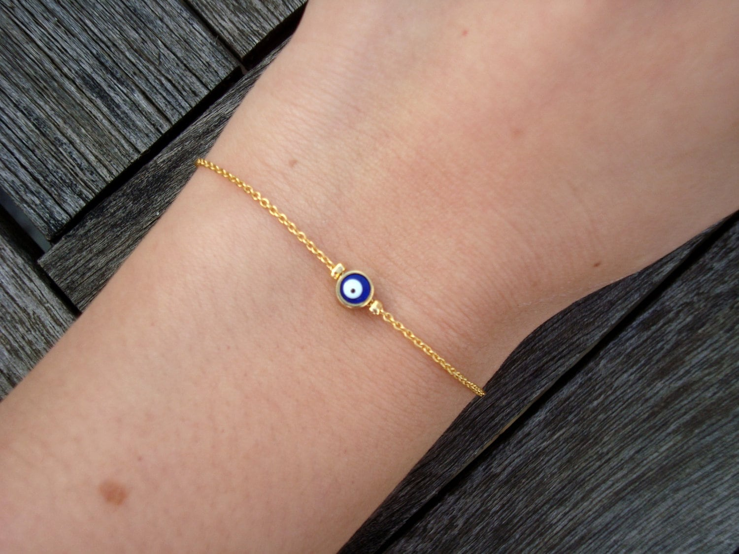 Evil Right Eye Gold Chain Evil Eye Bead