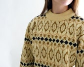 60s mod sweater - 1960s wool pullover sweater