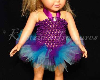 """2-Piece Mystical Dreams Tutu Outfit for 18"""" and 15"""" Dolls - Fits American Girl Dolls and My Generation Dolls"""