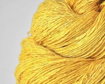 Withering sunflower - Tussah Silk Fingering Yarn