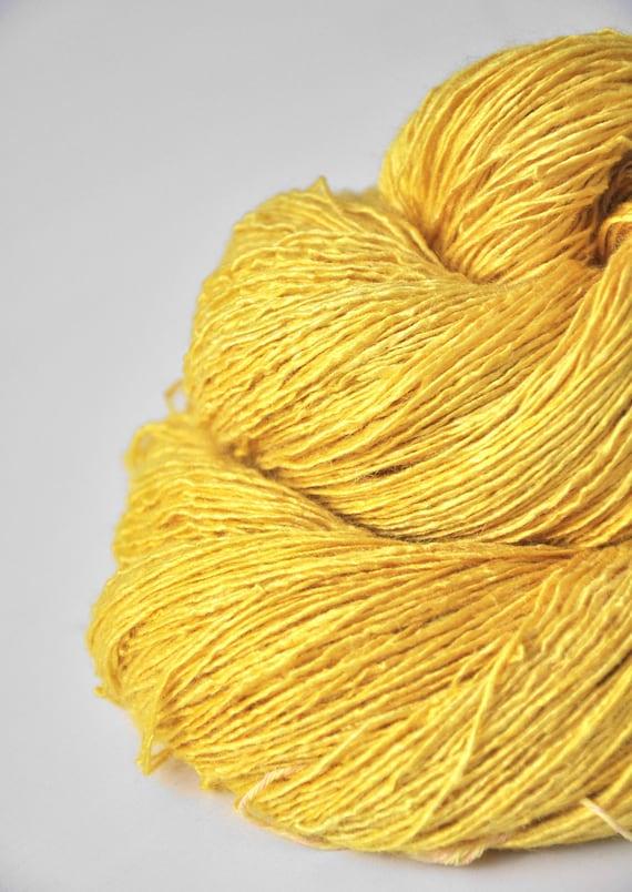 Withering sunflower - Tussah Silk Yarn Fingering weight