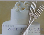 Vintage Silverware I DO ME TOO Sweetheart Cake Wedding Forks Reception Table Setting