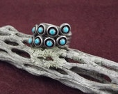 Turquoise and Silver Native American Ring