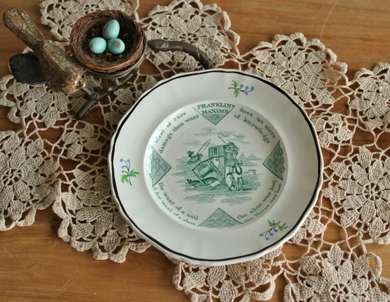 Antique English Staffordshire Soft Paste Childs Plate