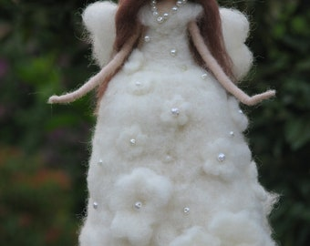 Needle felted fairy Christmas tree topper Home decor