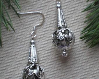 Silver Openwork Earrings