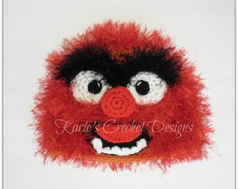 Animal , The Muppets , Fur, Photo Prop, Handmade Crochet Hat Beanie