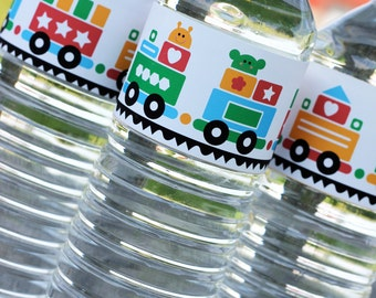 Train Water Label - Instant Download