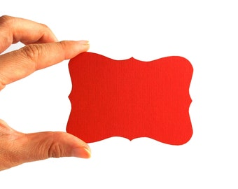 24 Bracket cards in Texturized Cardstock (3.5 x 2.5 inches) die cuts, choose your color A410