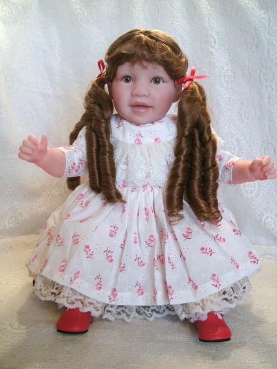 24 Inch Toddler Girl Doll Jill, vinyl, childlike, fake baby, reborn, manicured, lifelike, handmade