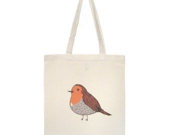 Robin Bird Reusable Shopping Bag Eco Cotton Tote gifts under 25