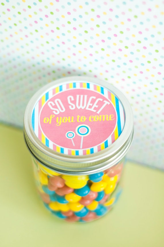 Candy Land Sweet Shop Party PRINTABLE Gift Tags from Love The Day
