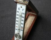 Antique pocket thermometer. A stunning collector piece.