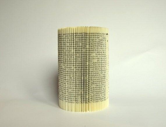 Altered folded Book - Cylinder