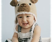 Silly Doggy Crochet Hat (12m-2T) Ready To Ship