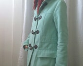 Mint Blue Green Toggle Light Weight Corduroy Jacket Size Medium