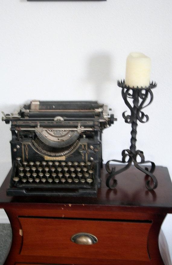 gothic iron candle holder