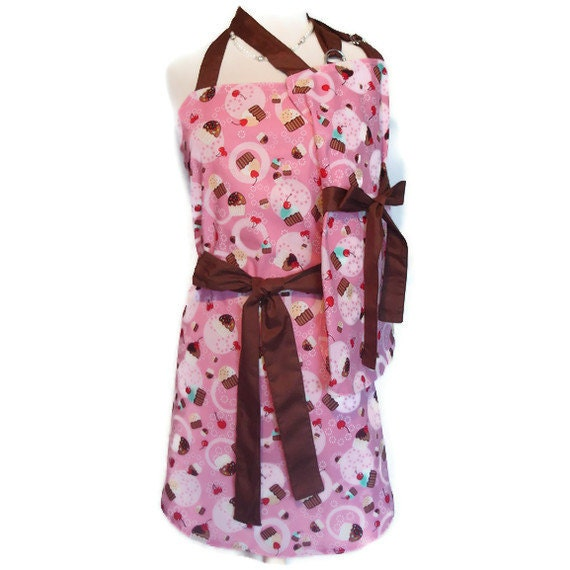 Mommy and Me Matching Apron set mother daughter aprons pink