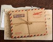 Kraft Envelopes Vintage Chop By Air 10pcs BIG size C6 11.4 cm x 16.2 cm