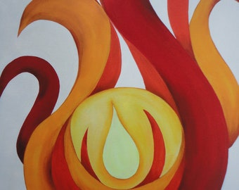 Abstract fire fine art print, abstract flames giclee, contemporary wall art print, abstract art print, abstract fire giclee, 8 x 10 wall art