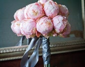 Blush Pink Peony Bud Wedding Bouquet - Peony Wedding Bouquet