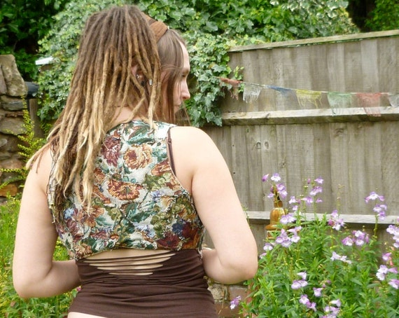 SALE! Wastenot Artizan Waistcoat , Recycled, Upcycled, Eco Reperposed