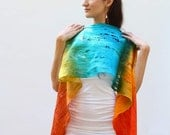 PDF pattern felting tutorial cobweb felted scarf felted shawl felted wrap pattern for felt easy felt felting DIY tutorial