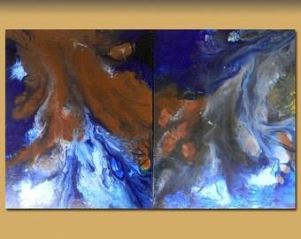 "Abstract painting  Title: Marvel - Original- large - (30"" x 48""  ( x1.5 deep) DanielBrunosArts"
