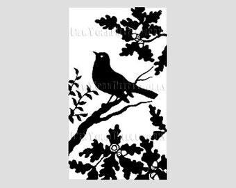 Bird Cross Stitch, Bird Silhouette, Vintage Silhouette Pattern, Cross Stitch Pattern, Needlepoint, Silhouettes, Bird from NewYorkNeedleworks