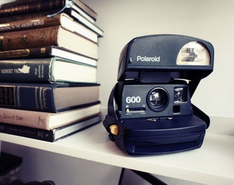 Polaroid Camera 600 Midnight Blue - Film Tested Working