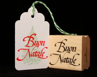 """Merry Christmas rubber stamp """"Buon Natale"""""""