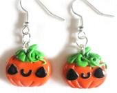 SALE Pumpkin Earrings