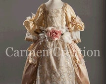 Victorian Dress -  Nutcraker Dress - Victorian Flower Girl Dress - (1800's Victorian Dress)