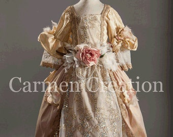 Victorian Dress -  Nutcraker Dress - Victorian Flower Girl Dress - (1800's Victorian Dress)
