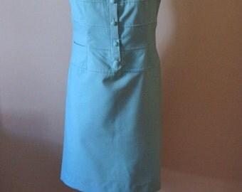vintage 1960s sky blue shift dress / 1960s mod dress