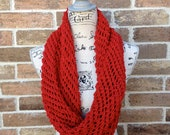 Lacy Infinity Scarf Knitting Pattern - DIY Gift Lacy Cowl, Wrap - Loop, Circle Scarf Handmade WWKIP Day Mothers Day