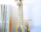 yellow polka-dot giraffe plush