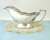 Antique Sauce Gravy Boat Forbes Silverplate